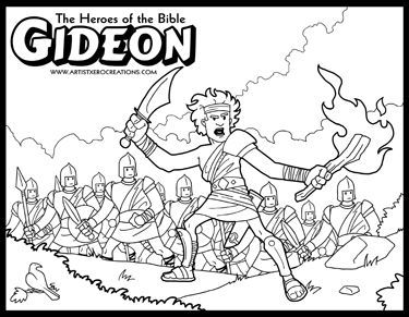 The Heroes Of The Bible Coloring Pages Gideon Sunday School