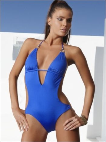 a810ac431ba6 Monokini by Vitamin A Gold Swimwear at Pesca Trend. Now you can also rock  the world in Vitamin A's new Catwalk Maillot! one piece swimsuit It  features sleek ...