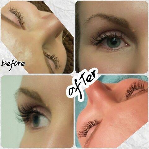 eyeliner med fransförlängning
