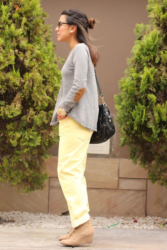 el diario de Pink Chick: The yellow boyfriend jeans