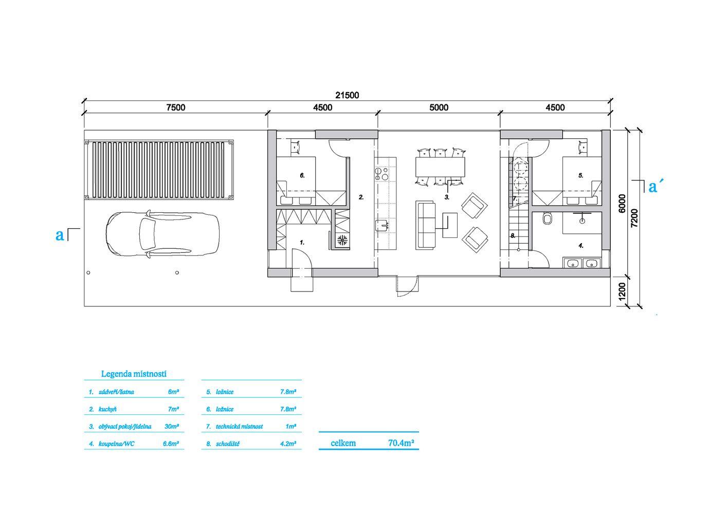 Gallery Of The Fence House Mjolk Architekti 13 Ground Floor Plan Floor Plans House