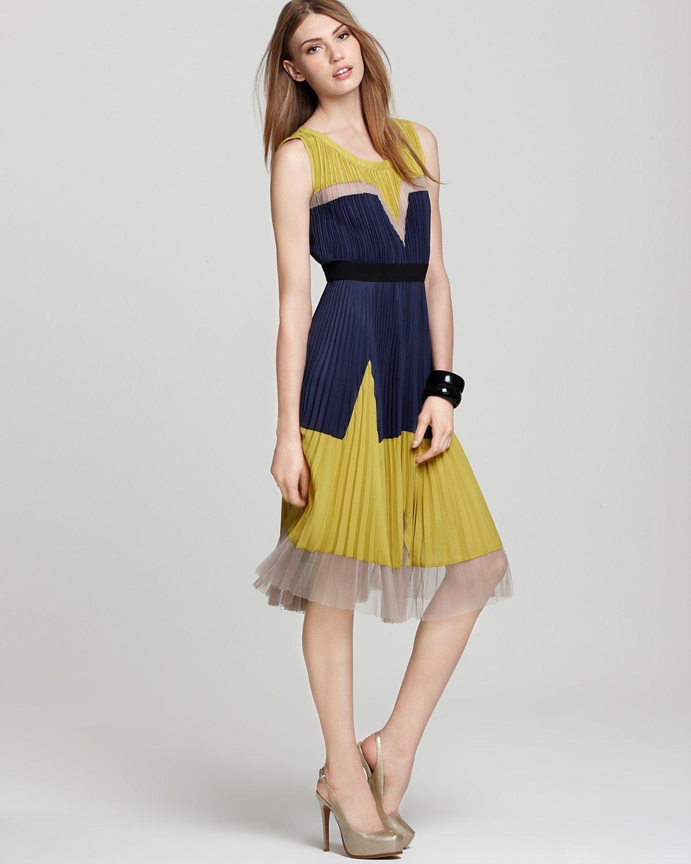 9ccb34c34e210 BCBGMAXAZRIA Dress - Pleated Color Block Dress | Things i adore in ...