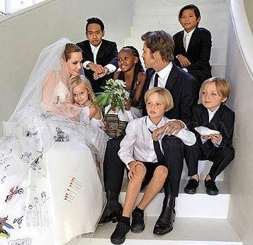 Brangelina Wedding Day Details Celebrity Wedding Dresses Wedding Dresses Celebrity Weddings