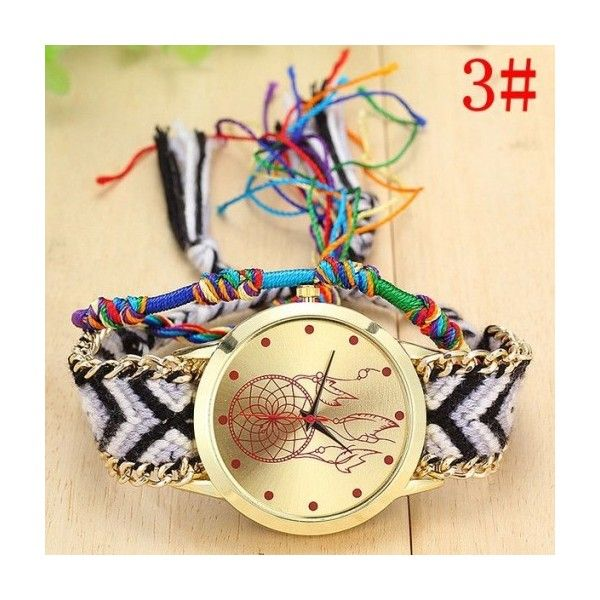 Bohemia style festival teen party watch Myfriendshop (31 BRL) ❤ liked on Polyvore featuring jewelry, watches and party jewelry
