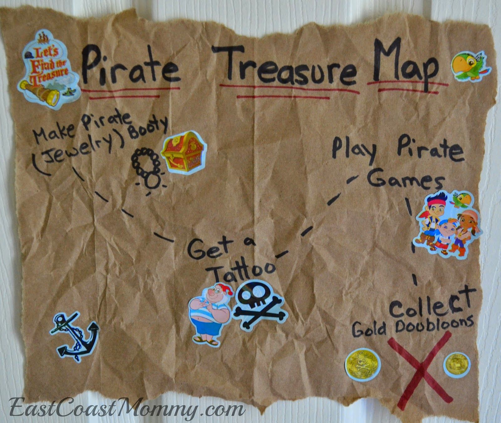 Love This Pirate Treasure Map From A Paper Bag And All