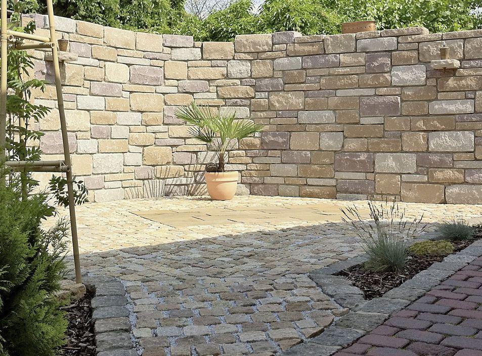 Santuro Burgruinenmauer In 2020 Steinmauer Garten Gartenmauern Vorgarten Terrasse