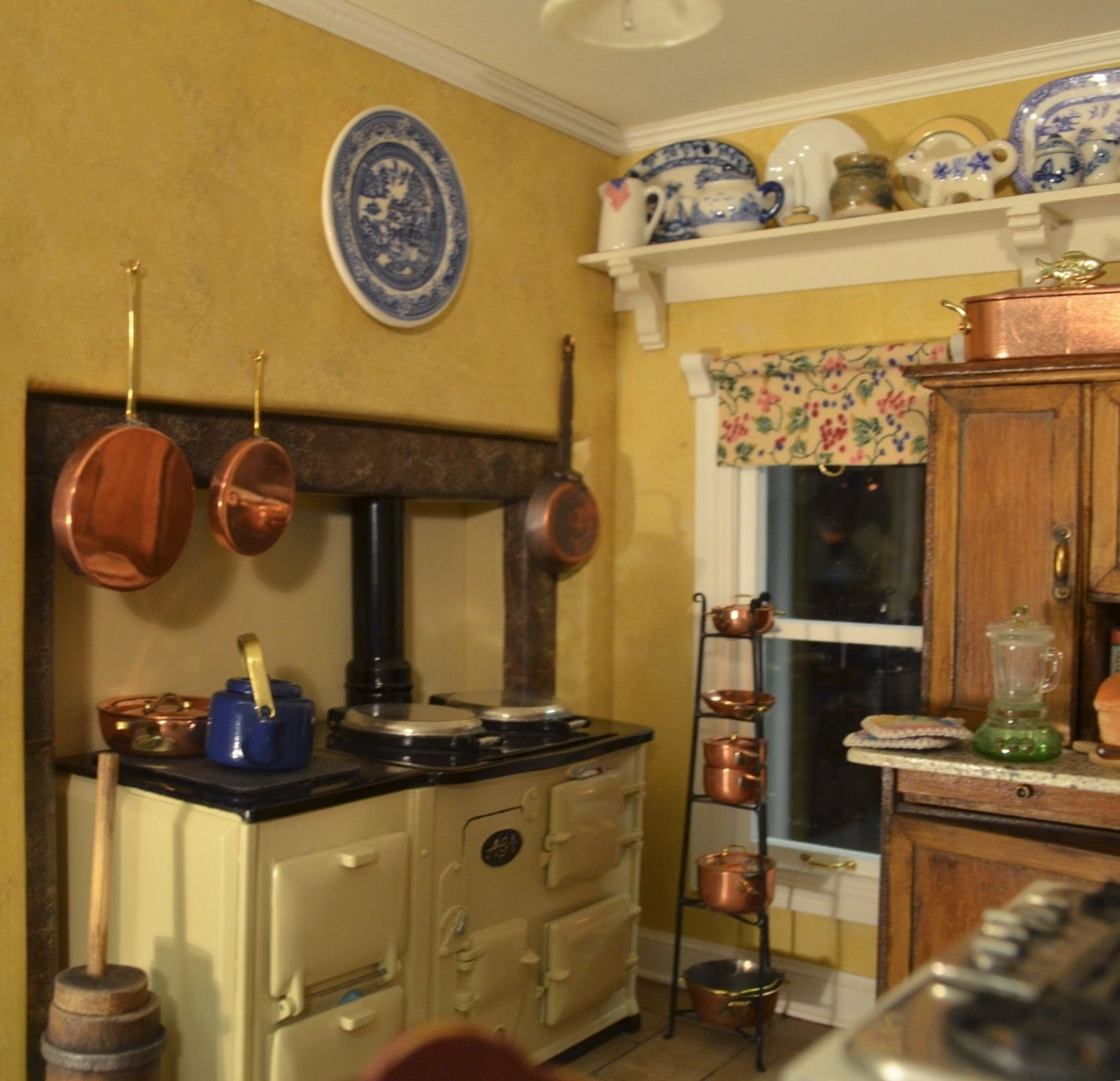 My big dollhouse kitchen ,the Aga was a kit I got for ...