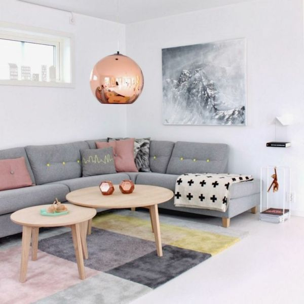 Gestaltungsmöglichkeiten Für Wohnzimmer Graues Sofa Mehr