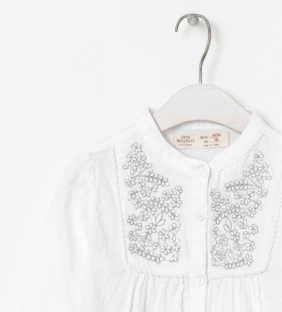 Chemise brodée - Chemises - Bébé fille (3 - 36 mois) - Enfants   ZARA France