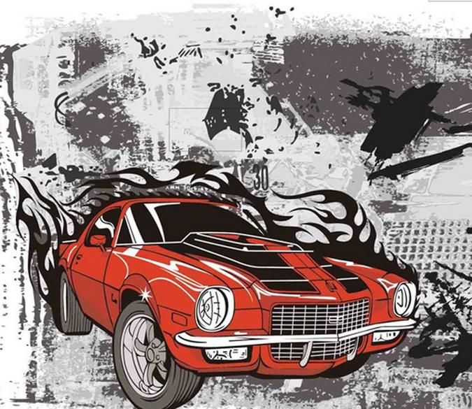 Phone customer service on 0403 496 446 for assistance. Motorcycle And Car Aj Wallpaper Graffiti Wallpaper Mural Car Cartoon