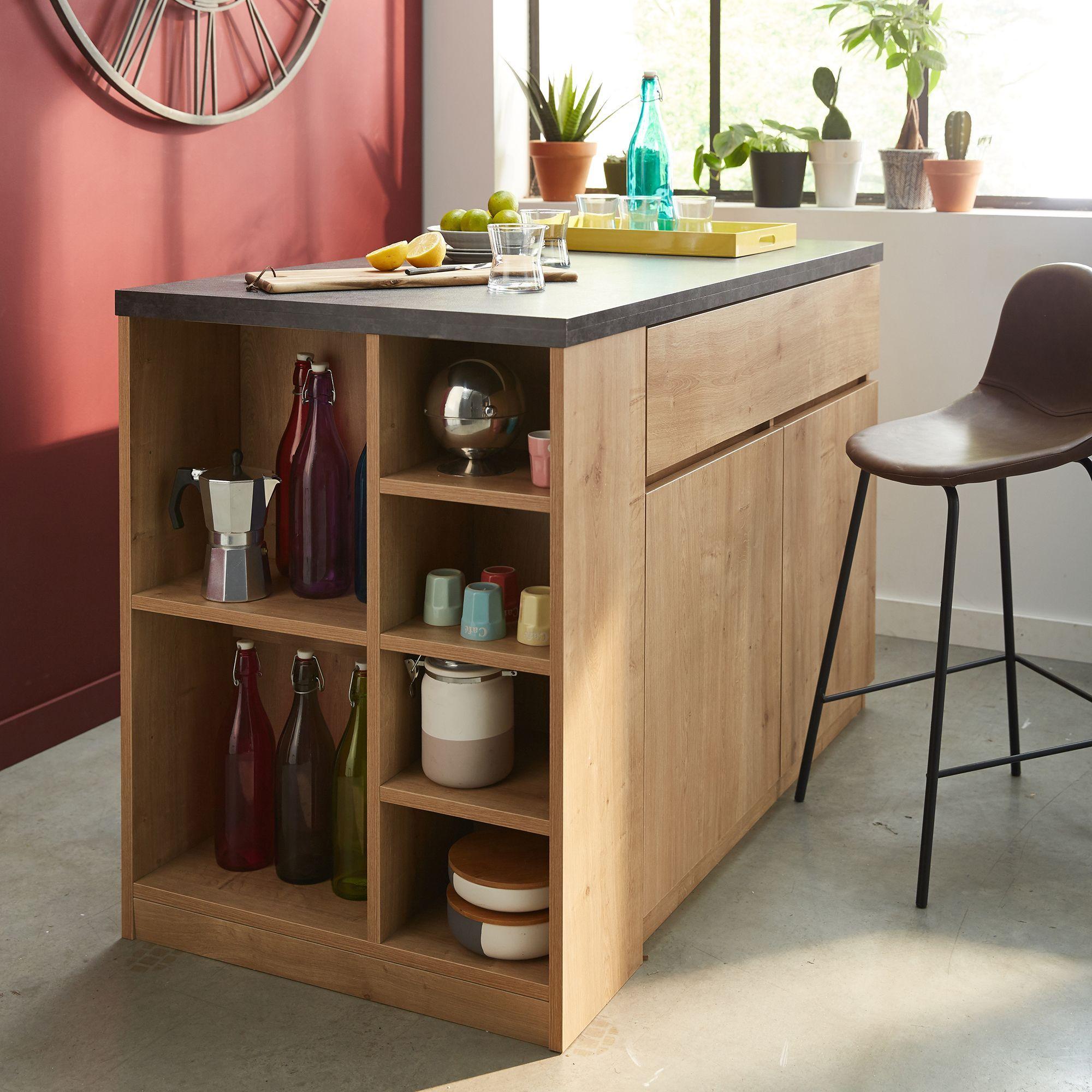 alinea gabin bar lot central l140cm rangement r versible alin a moi pinterest. Black Bedroom Furniture Sets. Home Design Ideas