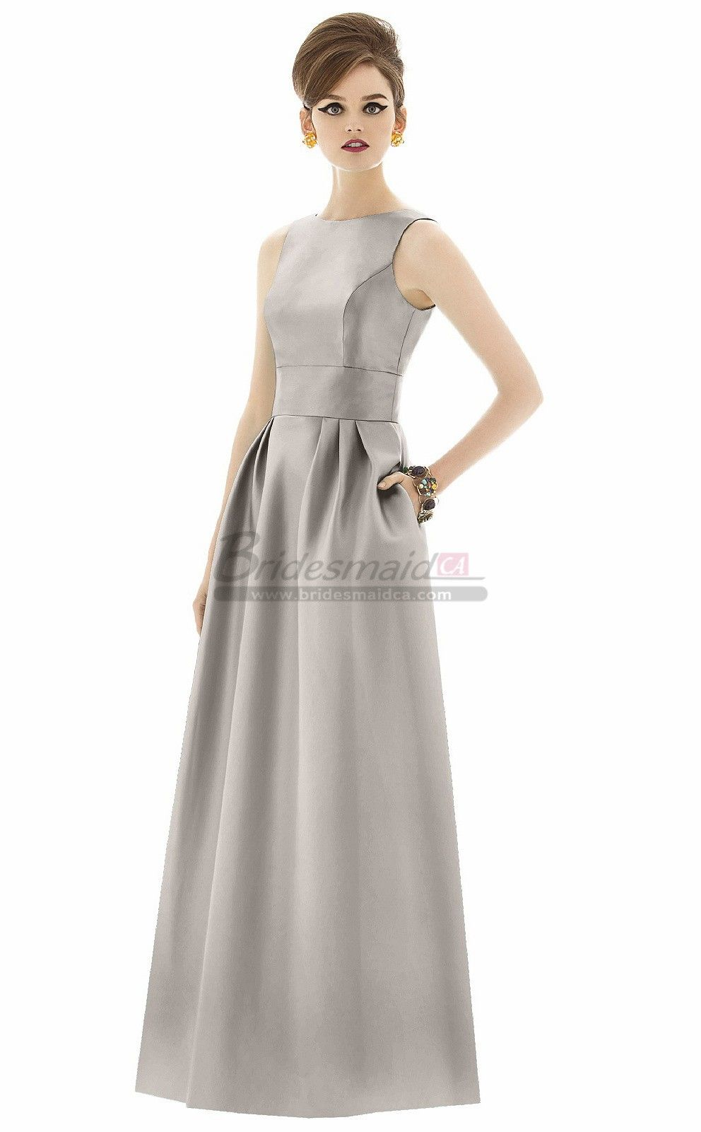 Grey long taffeta bridesmaid dresses wedding dresses pinterest grey long taffeta bridesmaid dresses ombrellifo Image collections