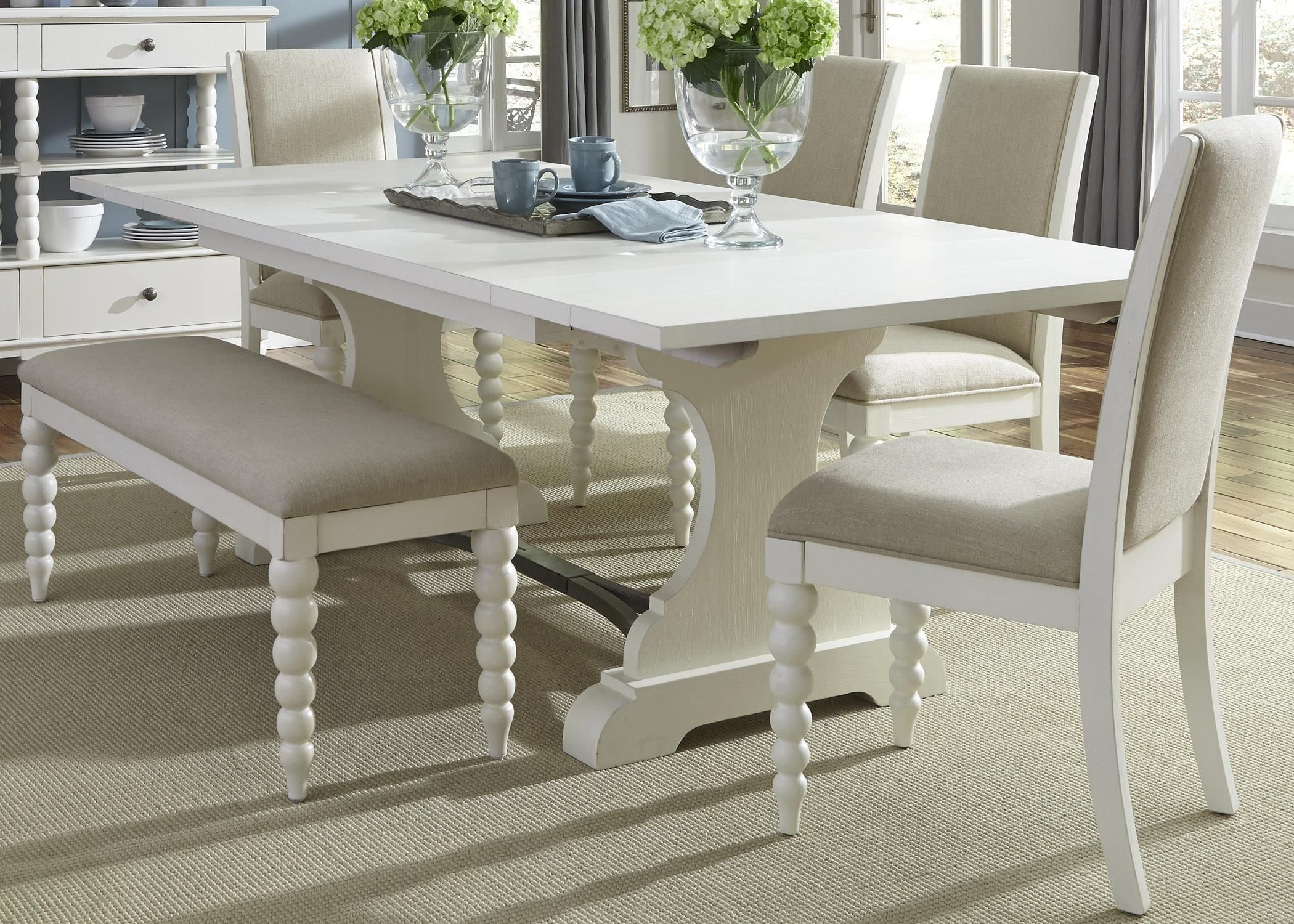 Harbor View Trestle Table and Side Chair and Bench Set by Vendor ...