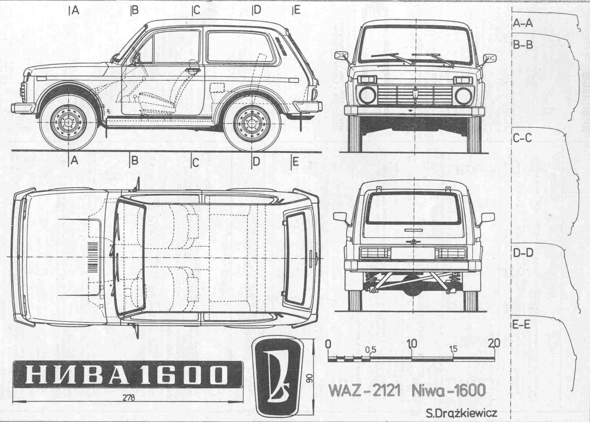 Lada Niva blueprint | Car | Pinterest | 4x4, Cars and Offroad