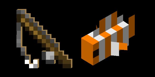 Minecraft Fishing Rod And Clownfish Clown Fish Minecraft All Minecraft