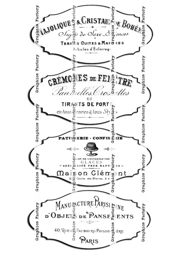 FREE DOWNLOAD French Ephemera Tags - Free download / by Dreams Factory