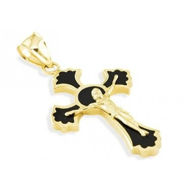 14k yellow gold black onyx crucifix jesus cross pendant mens obtain a very classy approach into inner faith with this new yellow gold onyx charm pendant this amazingly crafted piece features a solid high polished mozeypictures Gallery