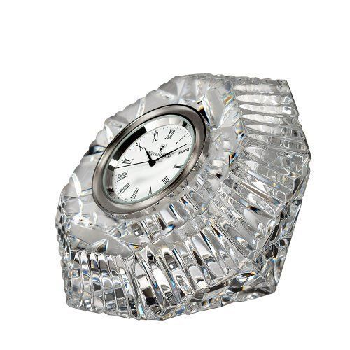 Waterford Crystal Classic Lismore Diamond Clock Anniversary Clock Waterford Crystal Lismore Waterford Crystal
