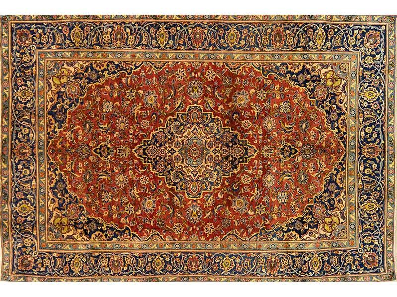 Persian Hand Knotted Kashan Carpet, 353 x 237