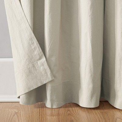 52 X95 Washed Cotton Twist Tab Curtain Oatmeal Archaeo Tab Curtains Curtains Cotton Curtains