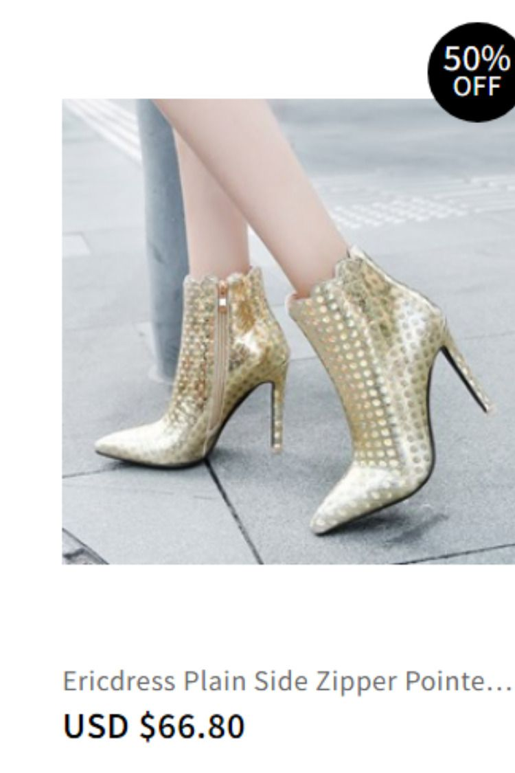 54d6b792dd3 Ericdress Plain Side Zipper Pointed Toe Stiletto Heel Ankle Boots Item  Code  13454594 Boot Type