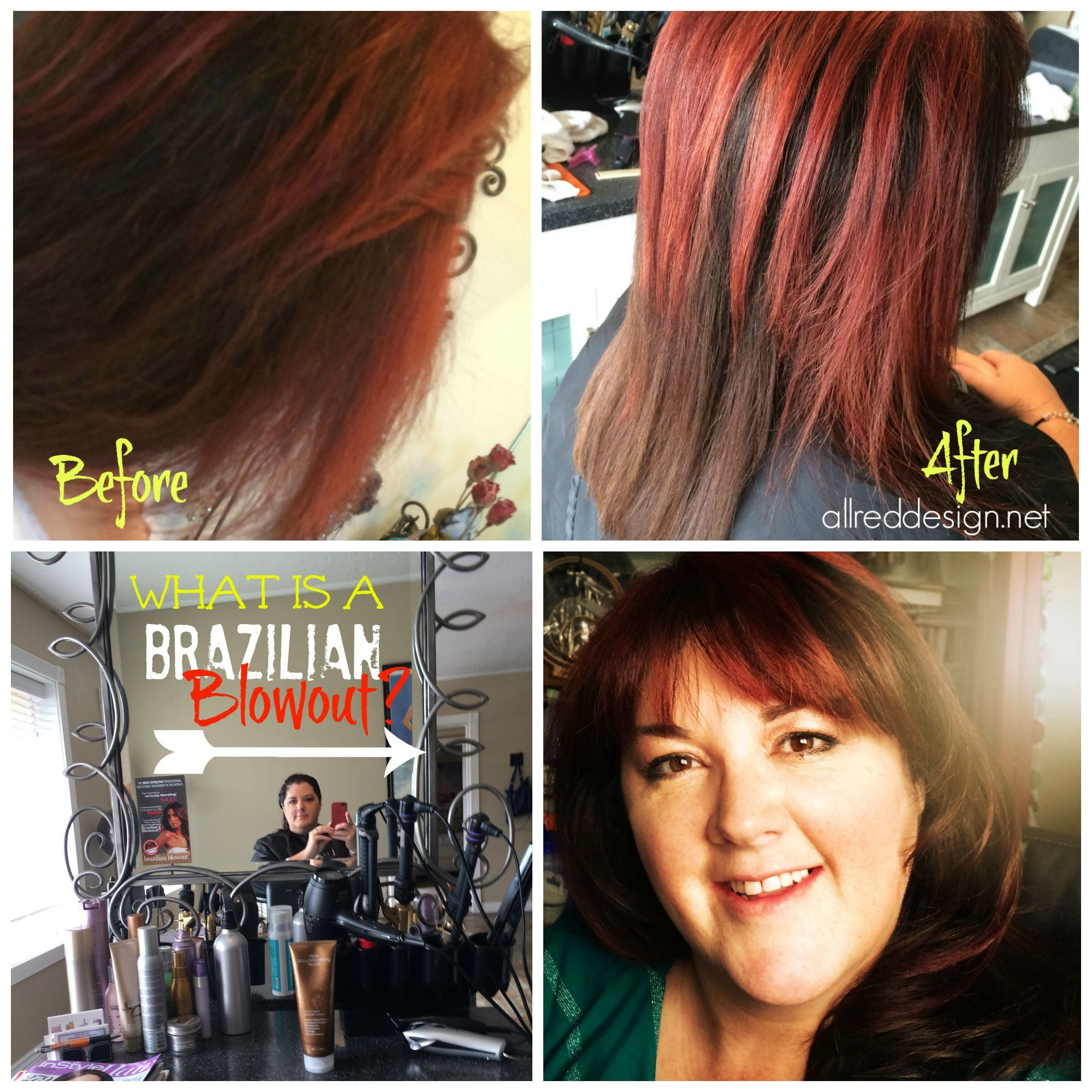 Learn about my first Brazilian Blowout. Blog post includes tons of info about what a BB is with before and after pics of me and others!