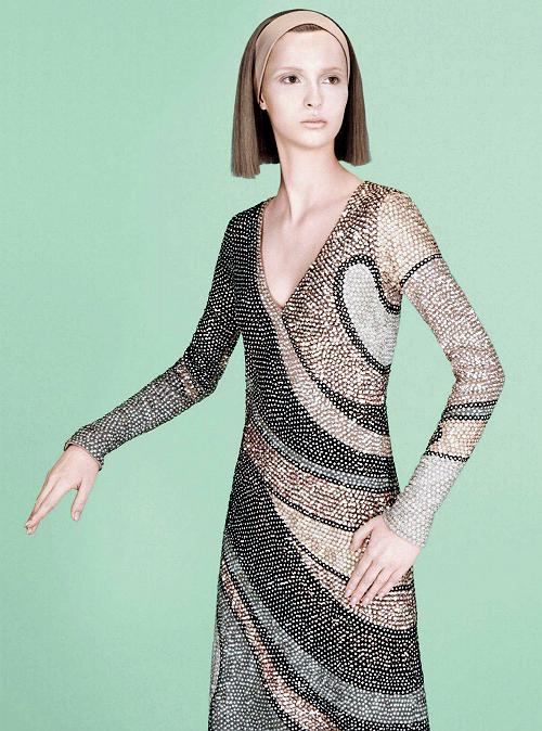 Waleska Gorczevski for Marc Jacobs Fall/Winter 2014 Advertising Campaign, ph. by David Sims.
