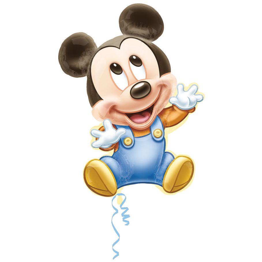 Baby Mickey Mouse Jumbo 25 Foil Balloon Mickey Mouse Ballonnen Kindje Mickey Mouse Mickey Mouse