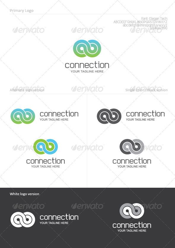 Connection #GraphicRiver Connection Logo Template Usage