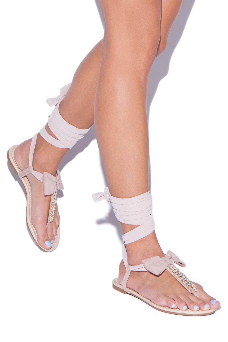 b64b8a67957c99 Shoedazzle Flat Sandals Jeslene Flat Sandal Womens Pink Size 5.5