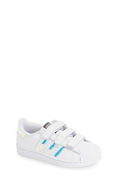 adidas 'Superstar Metallic' Sneaker (Baby, Walker, Toddler
