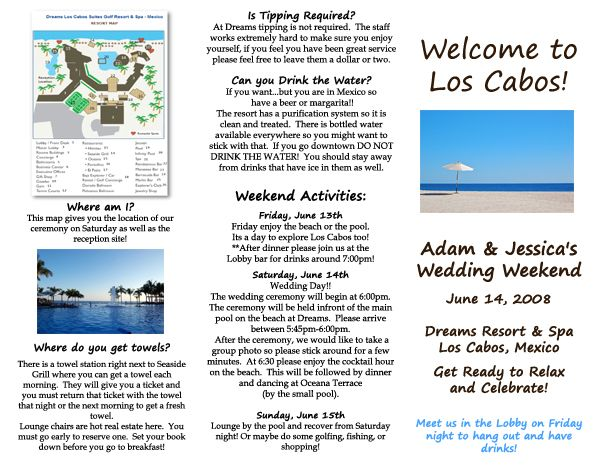 Some Examples Of Travel Brochure Sample brochures – Sample Travel Brochure