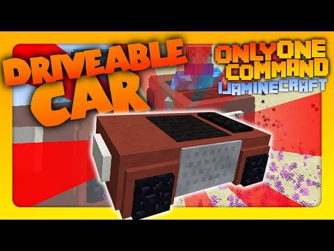 Minecraft - Driveable Car in one command! | No Mods