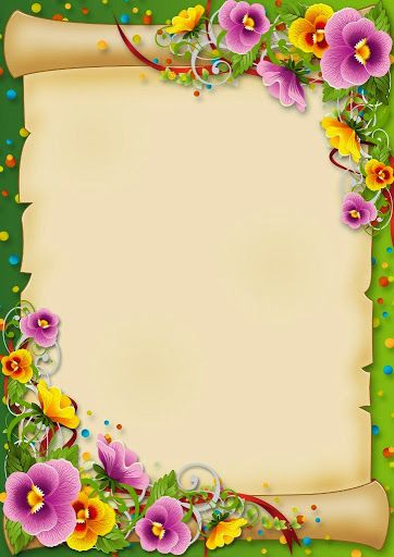 Pansy Paper Borders And Frames Flower Border Boarders And Frames