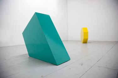 """Saatchi Art Artist EES TAYLOR; Sculpture, """"Green Triangle and Yellow Octagon from the collection """"Counter-play"""""""" #art"""