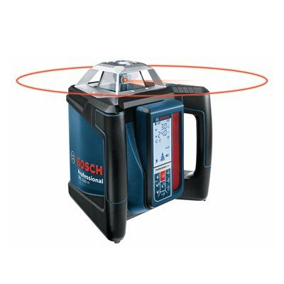 Bosch Grl 500 Hck Self Leveling Rotary Laser Complete Kit Bosch Rotary Leveling