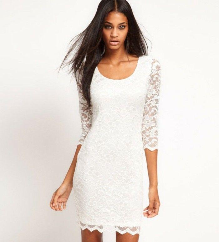 105 verblüffende Ideen für weißes Kleid!   Mutter kleider ...