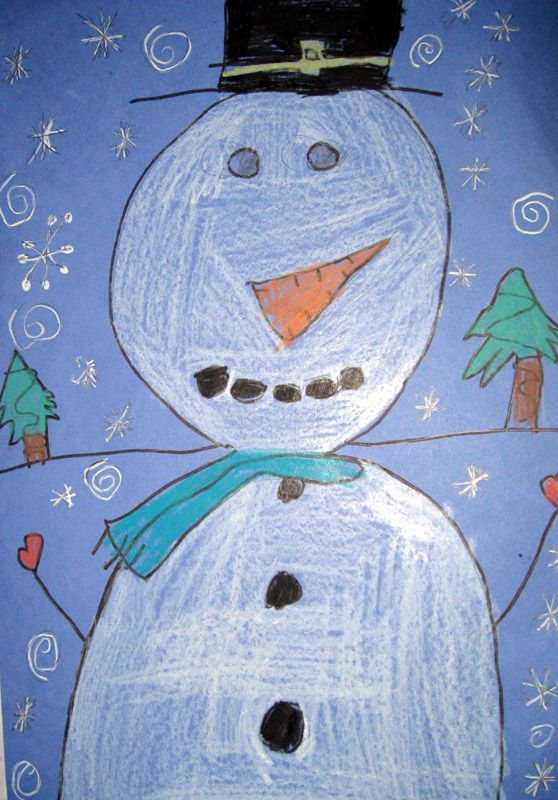 Snowman Portraits 2nd Grade Art With Mrs Brown Winter Art Lesson 2nd Grade Art First Grade Art