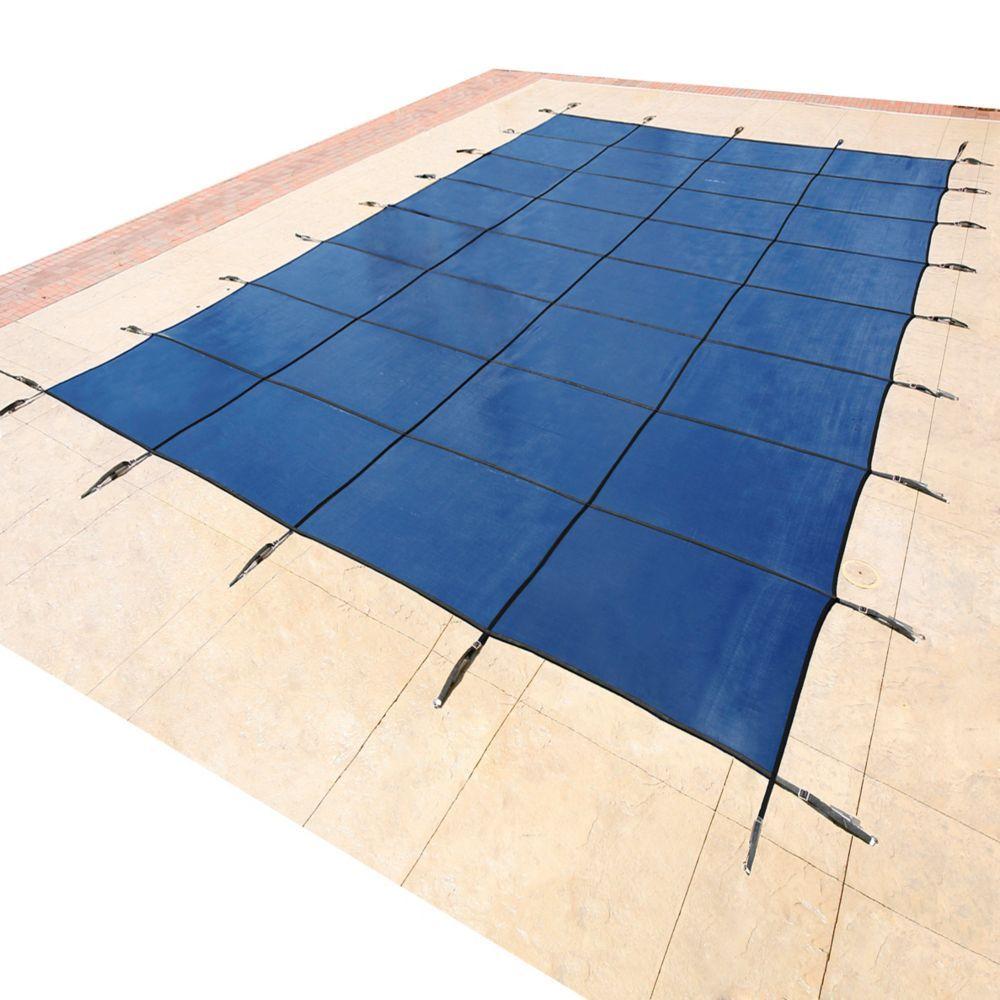 15 ft x 30 ft rectangular blue inground pool safety