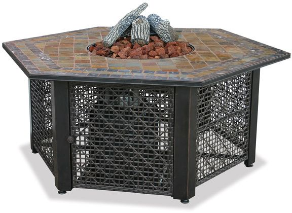 Blue Rhino Uniflame Lp Propane Gas Fire Pit Table With Square