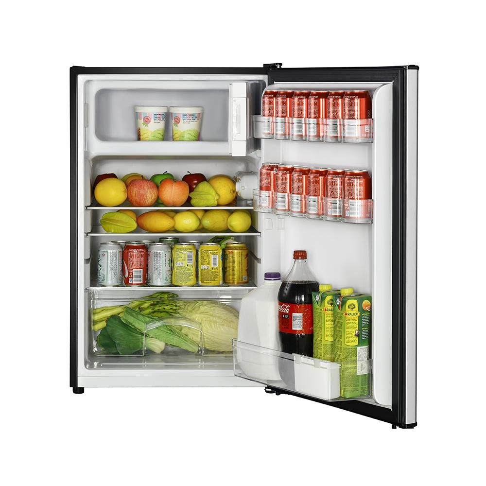 Magic Chef 4 5 Cu Ft Mini Fridge With True Freezer In Stainless Look Hmtr450se The Home Depot True Freezer Mini Fridge Magic Chef