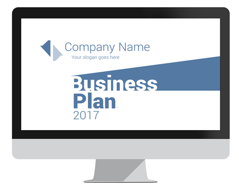 Minimal Business Plan Powerpoint Template  Business Planning