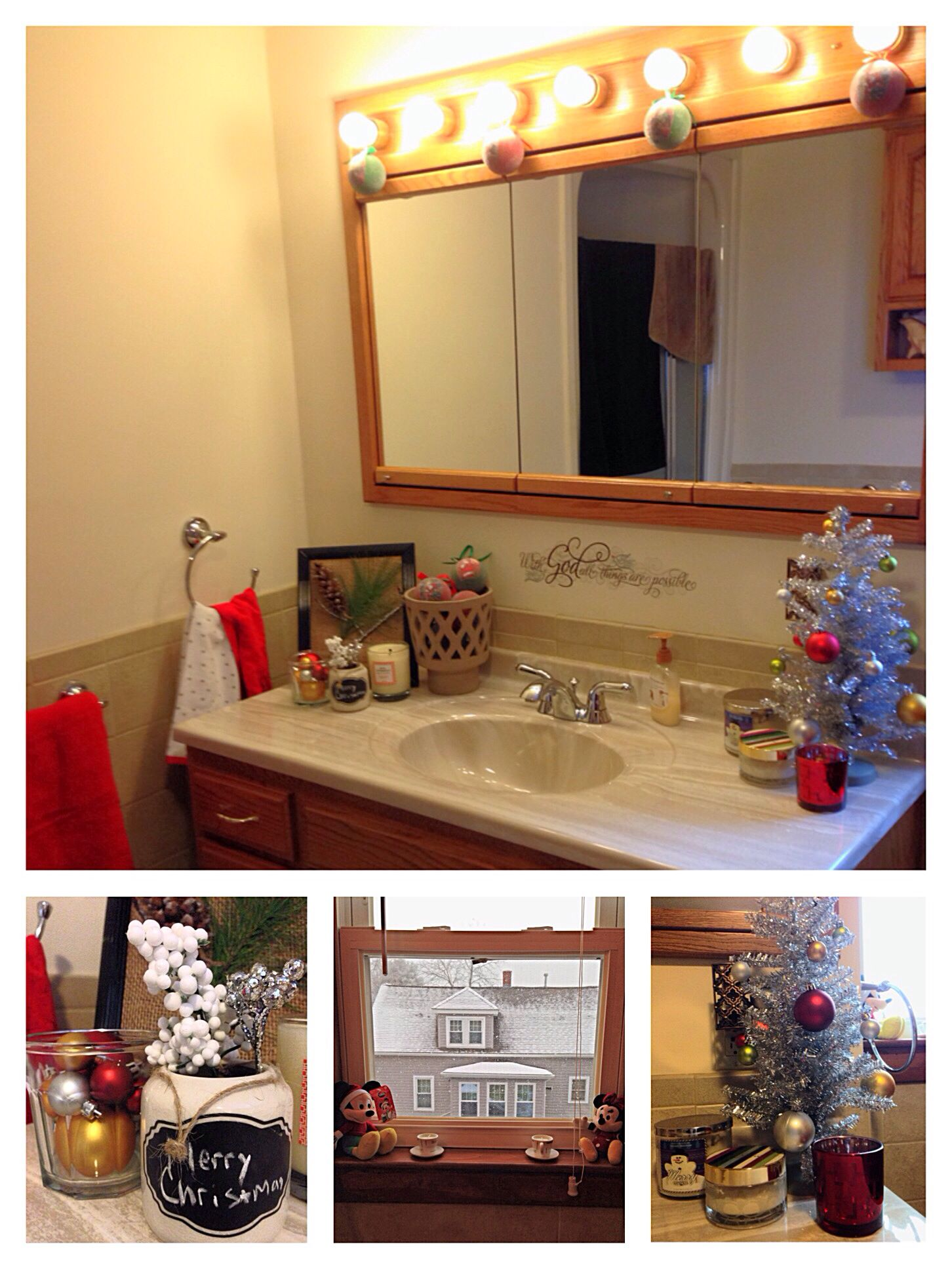 Simple Christmas Bathroom Decor Because Christmas Decor Should Never Be Limited To Just Commo Christmas Bathroom Decor Small Bathroom Decor Christmas Bathroom