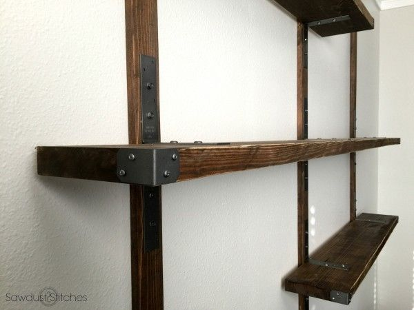 simpson strong tie wall mounted shelves furniture shelves wall rh pinterest com Industrial Metal Wall Mounted Shelving Metal Wall Mounted Shelves