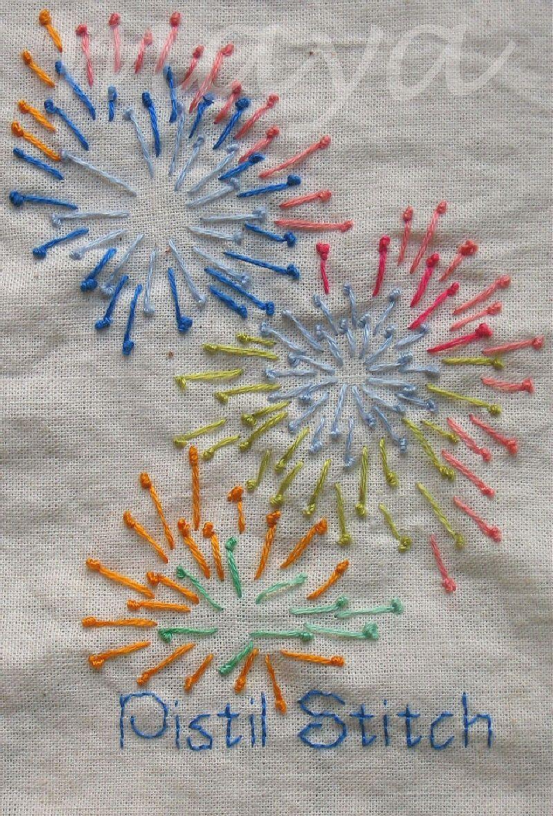 I embroidery tast pistol stitch by maya matthew create