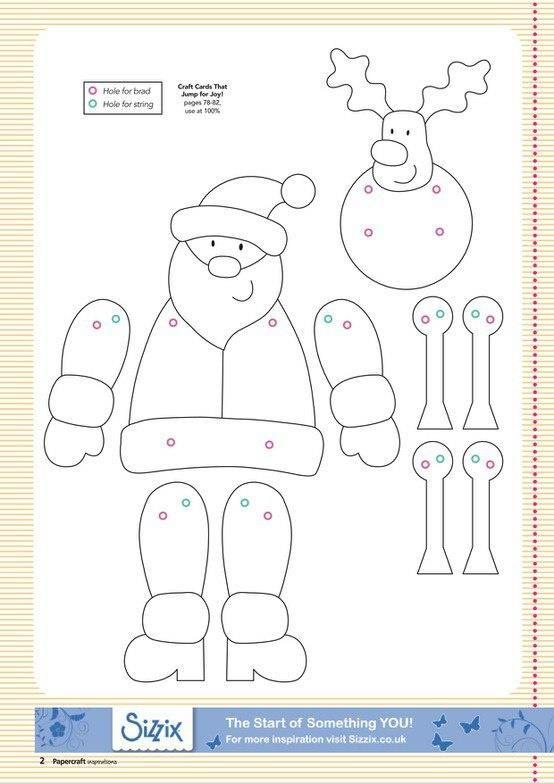 Plantillas Para Realizar Munecos Navidenos Articulados Los Puedes Ha Manualidades Navidenas Para Ninos Manualidades Navidenas Hojas De Navidad Para Colorear