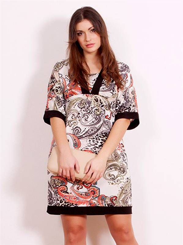 fe85f8b0382 Vestido tunica kimono de moda en tallas grandes | VESTIDOS ...