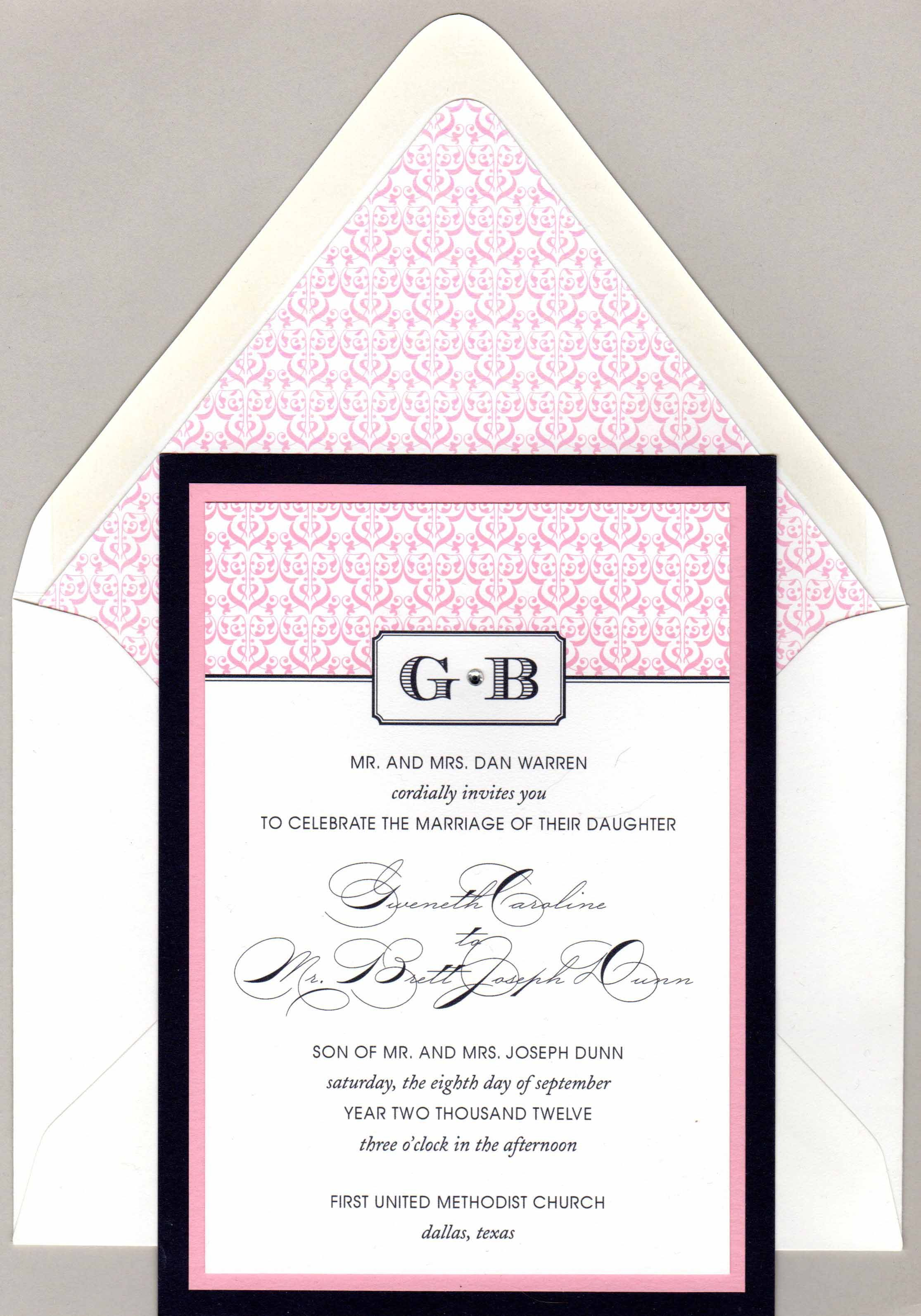 Ella wedding invitation from the bt elements Pure collection ...