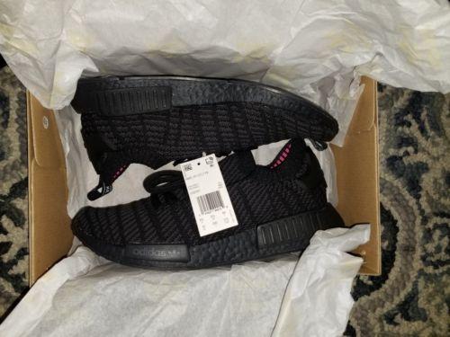 b14a9eea7 Details about Adidas NMD R1 Primeknit STLT Triple Black CQ2391 Size ...