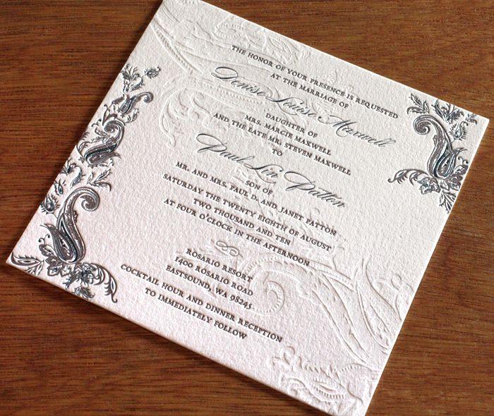 Indian Paisley Letterpress Wedding Invitation Design Sindhu I Wedding Reception Invitations Letterpress Wedding Invitations Wedding Invitation Etiquette